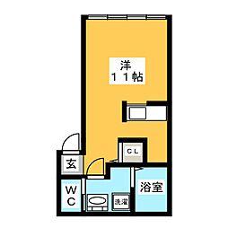 メゾン・長住[2階]の間取り