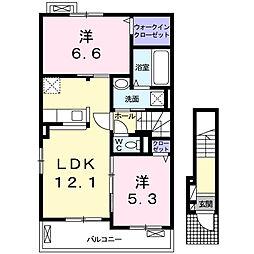 クレメント津志田A[2階]の間取り