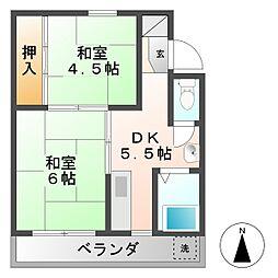 千万アパート[2階]の間取り