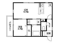 ガロンヌ寄居[2階]の間取り