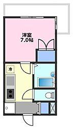 第21増尾ビル[2階]の間取り