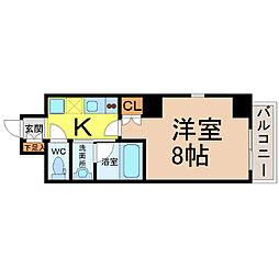 愛知県名古屋市東区東桜2の賃貸マンションの間取り