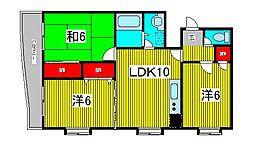 第五メゾン小泉芝新町[601号室]の間取り