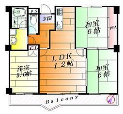 ディアコート・ミキ[4階]の間取り