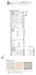 Le'a横濱プレステージ 2階2Kの間取り