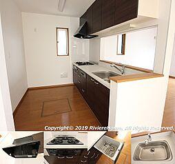 システムキッチン/ビルトイン食器洗浄乾燥機付/浄水器一体型シャワー水栓/Siセンサーコンロ/床下収納