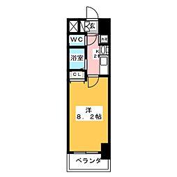 プレサンス名古屋駅前グランヴィル[3階]の間取り