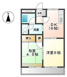 フォートレス21A[2階]の間取り