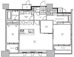 エンクレスト博多STYLE 11階3LDKの間取り