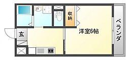 第17関根マンション[6階]の間取り