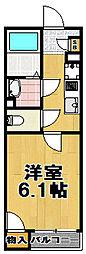 レオネクストキューブ西九条[2階]の間取り
