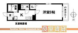 愛知県名古屋市南区三条1丁目の賃貸アパートの間取り