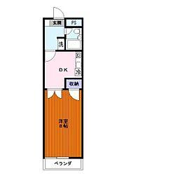 レナジア鶴ヶ島[307号室]の間取り