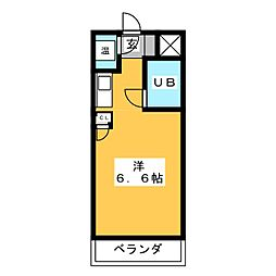 スミックスコーポ宝生[3階]の間取り