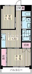 1561−家政ハイツ[303号室]の間取り