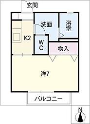 カトル篠木[2階]の間取り