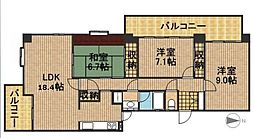 佐鳴湖パークタウン12号棟[11階]の間取り