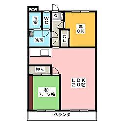 アムラートハウス B[2階]の間取り
