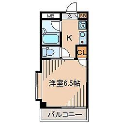 神奈川県横浜市神奈川区白幡上町の賃貸マンションの間取り
