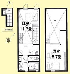 セントアイヴス渋谷 2階1LDKの間取り
