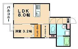 仮)プレステージ粕屋原町駅前[3階]の間取り