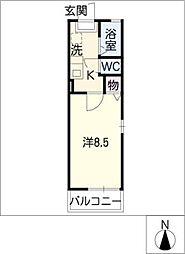 St.AKANAT N[2階]の間取り