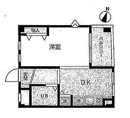 キャッスル笠間II[1階号室]の間取り