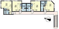 ユナイト 新町ポールスタンレー[2階]の間取り
