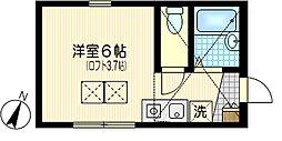 ウインズ浜川崎[2階]の間取り