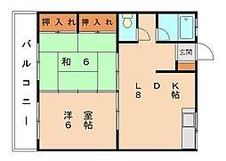 美和台ビル[2階]の間取り
