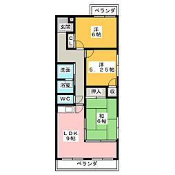 ラフォーレ甚目寺[5階]の間取り