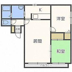 プライム32[2階]の間取り