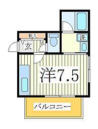 コールディアーレ・田辺[3階]の間取り