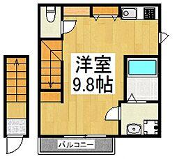 エスペランサ武蔵野[2階]の間取り