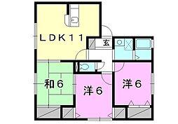 ハイカムール土居田[101 号室号室]の間取り