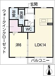 casa・L A棟[1階]の間取り