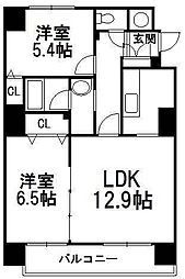 北海道札幌市中央区南五条西8丁目の賃貸マンションの間取り