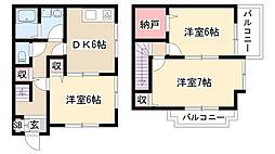 [テラスハウス] 愛知県名古屋市緑区神の倉2丁目 の賃貸【/】の間取り