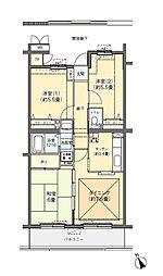 フロール川崎古市場[2-406号室]の間取り