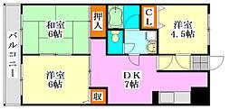 メゾンドール・カムイα館[1階]の間取り