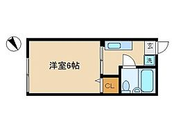 東京都大田区上池台4丁目の賃貸アパートの間取り