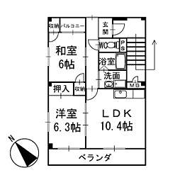 高根 2階[201号室]の間取り