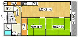 LineSquare 2B[1階]の間取り