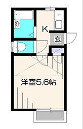 サラコート[2階]の間取り