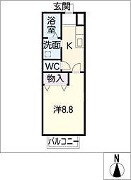 トップハウス羽津2[1階]の間取り