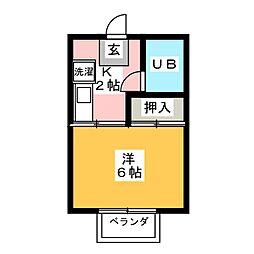 コスモスハウスB[2階]の間取り
