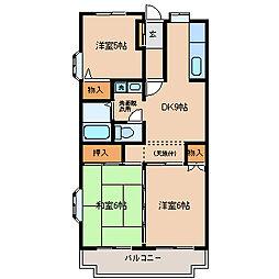 フレアK[2階]の間取り
