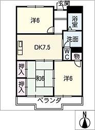 メゾン マルヨシ[1階]の間取り