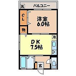 有吉アパート[101号室]の間取り