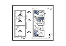 JR総武線 千駄ヶ谷駅 徒歩4分の賃貸マンション 1階ワンルームの間取り
